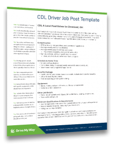 truck driver job description template