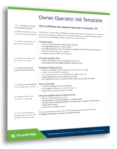 owner operator job description template