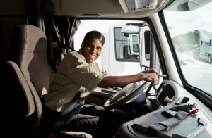 truck driver cab