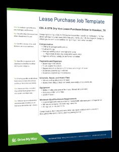 lease purchase driver job description
