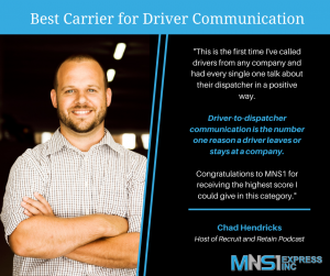 MNS1 Best Carrier for Driver Communication