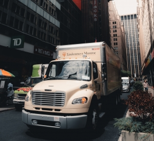 truck in the city
